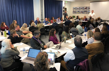 Parents, teachers and Boundary Review Committee members sit together to discuss future solutions to overcrowded schools in the Bethel School District.  Courtesy - Bethel School District