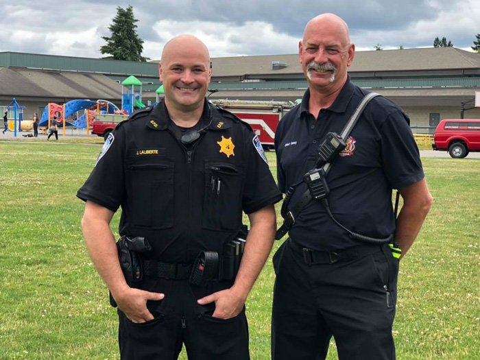 Eatonville folks, officers observe National Night Out