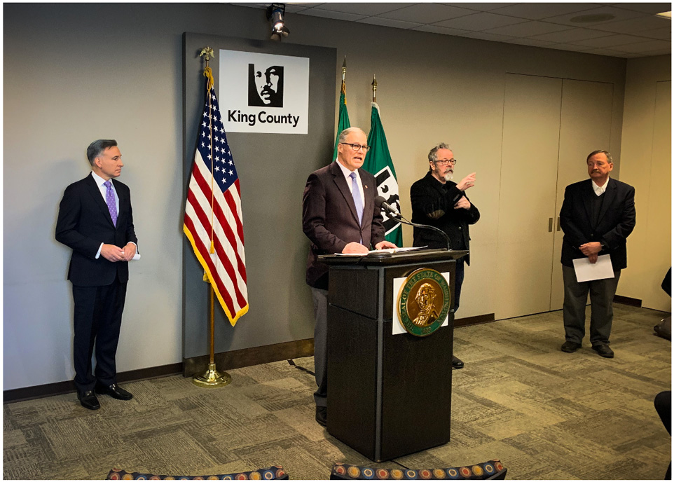Courtesy photo; Governor Jay Inslee press conference March 16